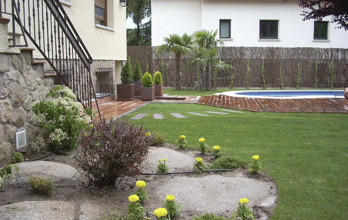 Diseño de jardín en Berrocales