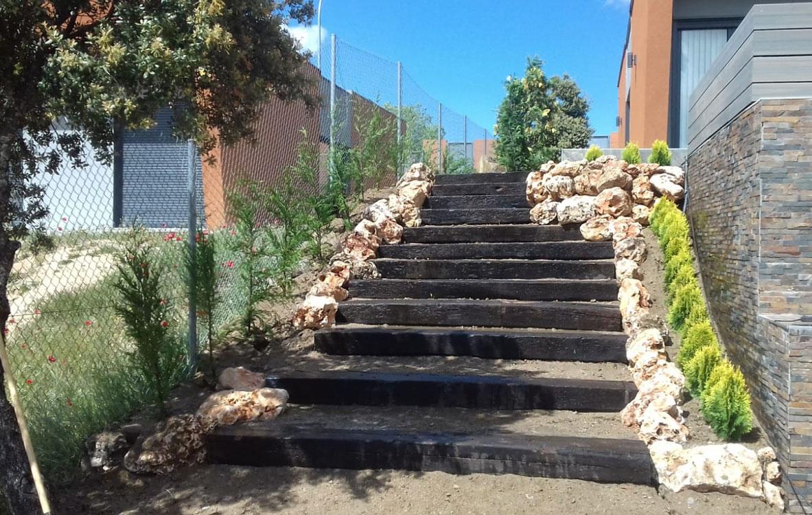 Escalera de traviesas