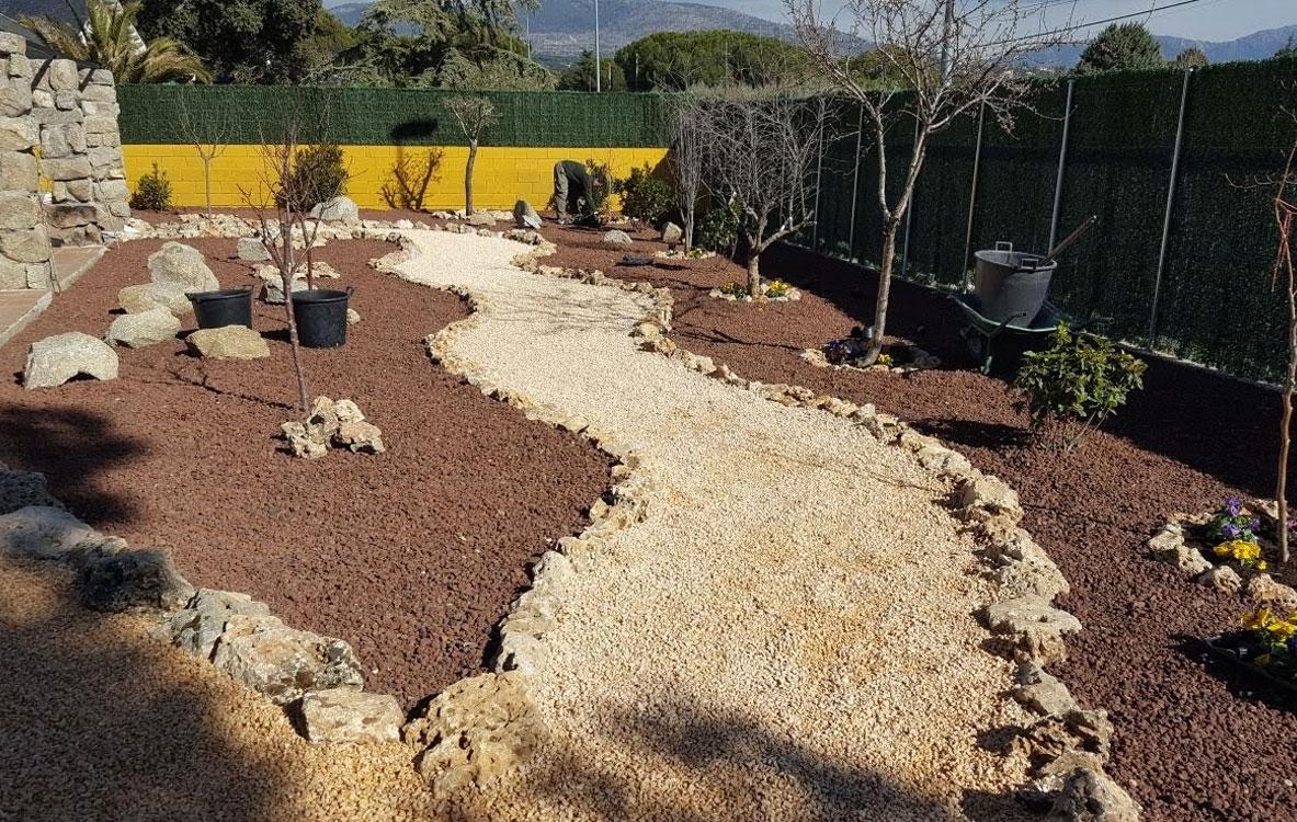 Jardín de gravas